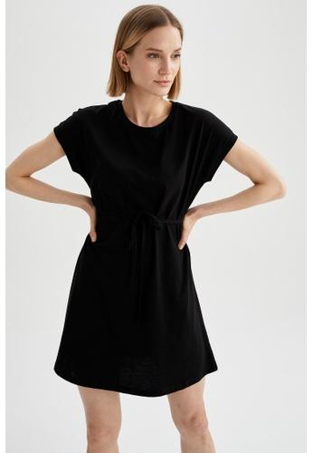 DeFacto 黑色 Short Sleeve Mini Dress BB21AAABFAD77CGS_1