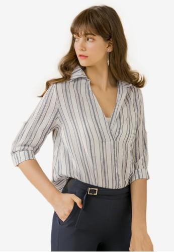 Eyescream blue Relaxed Fit Stripe Shirt 30FD7AAFC45C81GS_1