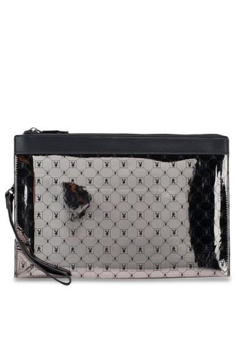 Playboy black Playboy Clutch Bag 4D4EBAC57C27A6GS_1