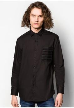 Long Sleeve Shirt With Mesh Pocket