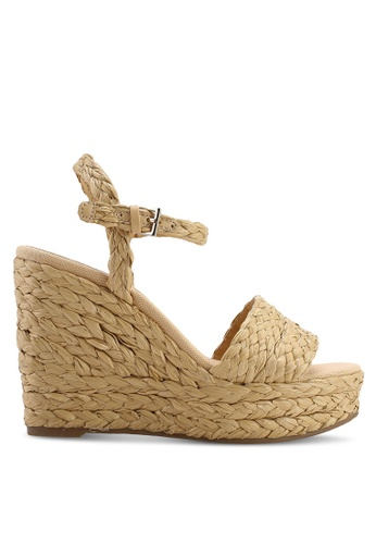9f7b675ed883 Buy Mango Braided Wedge Sandals Online on ZALORA Singapore