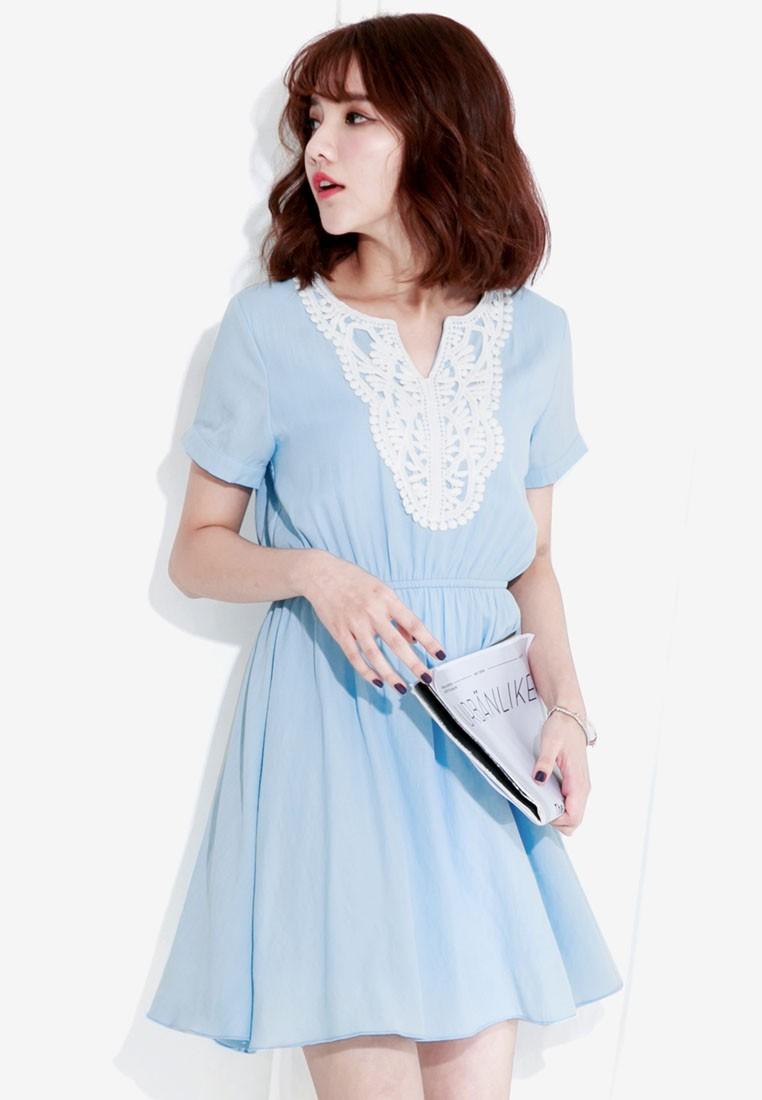 Dress with Crochet Trims