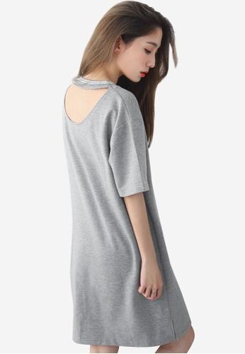 Sesura grey Everyday Comfort Oversized Dress 3347DAA895331DGS_1