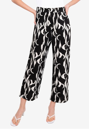 ZALORA BASICS black Elasticated Relaxed Pants A6B26AA1F8B431GS_1