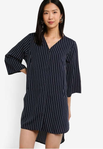 ZALORA BASICS multi Basic Oversized Shirt Dress 99BDFAA0EE75EAGS_1
