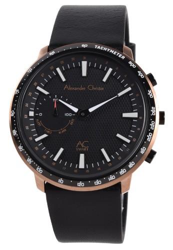 Alexandre Christie black Alexandre Christie - Smartwatch - Jam Tangan Pintar Pria - Rosegold - Black Leather Strap - S001MFLBRBA EEB8BAC022CF26GS_1