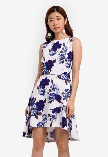 ZALORA white Dipped Hem Dress D0E41AACCFF8E6GS_1