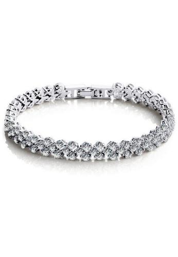 YOUNIQ silver YOUNIQ Dazzling Platinum Plated Bracelet (Silver) YO999AC21SBYMY_1