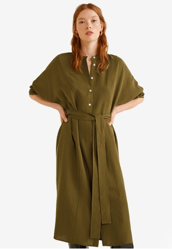 Mango green Bow Soft Dress 97A4EAAB1B4058GS_1