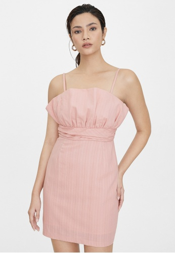 Pomelo pink Mini Cinched Cami Dress - Pink 5ED5EAAE770419GS_1