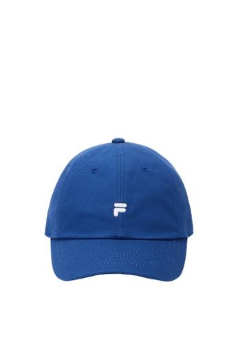 FILA blue Korea Collection Unisex Embroidery F Logo Cap E96B6AC67D8CEDGS_1