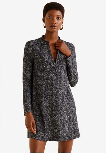 Mango grey Flowy Dress 9024CAAC3A5B9AGS_1