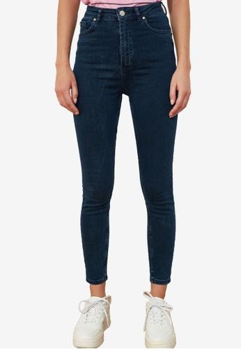 Trendyol navy High Waist Skinny Jeans D30C1AA1562C45GS_1