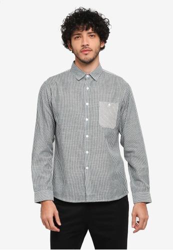 JAXON green Mix Stripe Long Sleeves Shirt 6ECEEAA622A51BGS_1