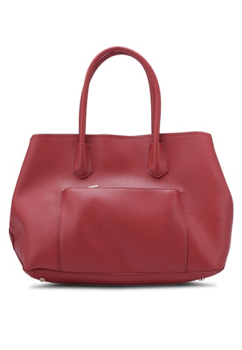 ZALORA red Structured Tote With Front Pocket A2C16ZZ9268122GS_1