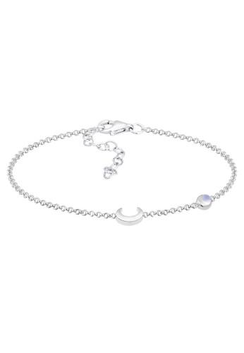 Elli Germany silver Perhiasan Wanita Perak Asli - Silver Gelang Halfmoon Astro D2D0CAC4E09EB8GS_1