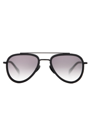Marshall Eyewear black and grey Mick Black Leather MA266AC63OWQSG_1