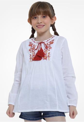 EXIT GIRL white Callie White Blouse 1CC1CKAA711626GS_1