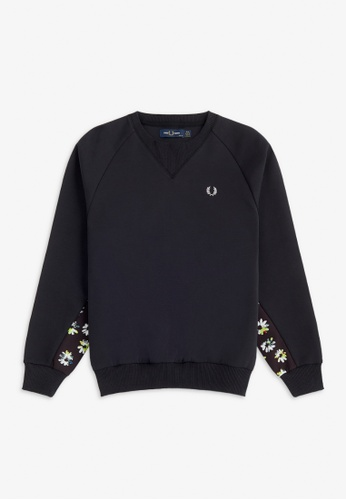 FRED PERRY black G9142 - Floral Panel Sweatshirt - (Black) E4192AA9B7A075GS_1