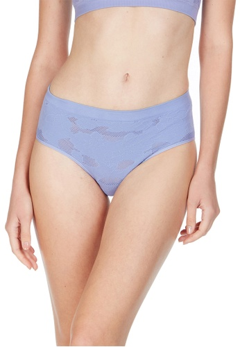 6IXTY8IGHT blue Havana Solid, Knitted Lace Hipster Panty PT09900 7018AUSCE65995GS_1