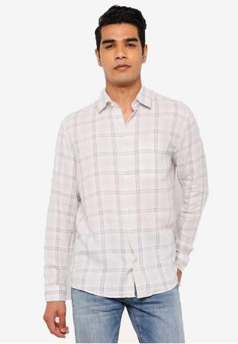 Gap multi Long Sleeve Soft Twill Plaid Shirt E9BDBAA7FF62D6GS_1