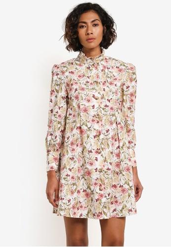TOPSHOP multi Printed Shirt Dress TO412AA0ROV4MY_1