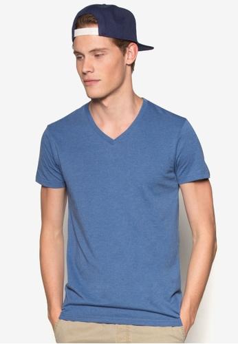Cotton On 藍色 簡約V領T 恤 CO372AA53ZWOMY_1