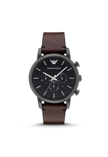 Eesprit 高雄mporio Armani LUIGI休閒系列腕錶 AR1919, 錶類, 休閒型