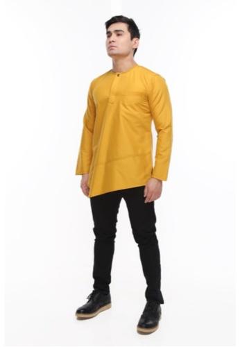 Amar Amran yellow Kurta Al Fattah 2.0 ACA59AA5267BBBGS_1