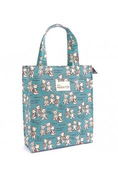 Lunch Bag with Zipper - Blue Bear