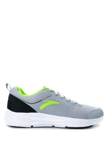 Anta black and grey and green Running Shoes AN488SH06KOVPH_1