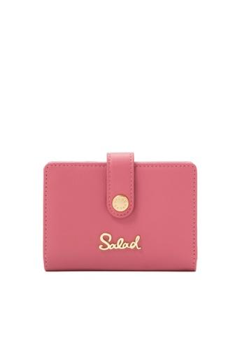 Salad 粉紅色 Unpick 皮咭片套 CD15BACBBC4504GS_1