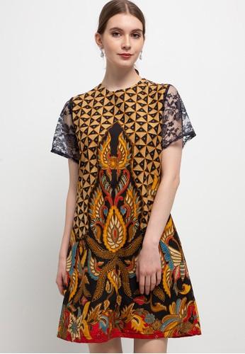 Le Viel Batik brown Alisha Minidress 2EA45AA8BDB814GS_1