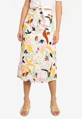 Charlie Holiday multi Palma Midi Skirt 65B06AAA41AFE0GS_1