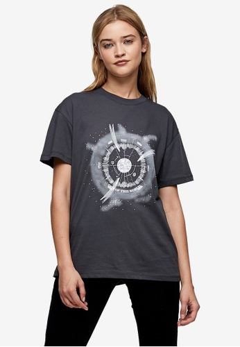 TOPSHOP grey Out Of World Tee 65F4FAACAA82B8GS_1