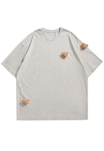 Twenty Eight Shoes Bear Decoration Casual Short T-shirt 5135S21 5686DAA03D077EGS_1