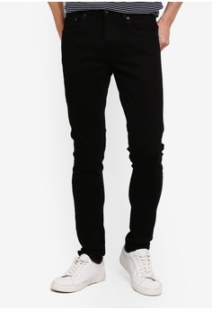 6e59a62db196fd Electro Denim Lab black Calypso Slim Tapered Jeans FDA2FAA6B120E7GS_1