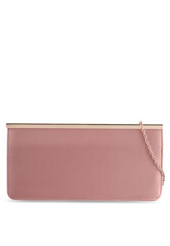 Dorothy Perkins pink Blush Bar Top Clutch 61FB3AC0375334GS_1