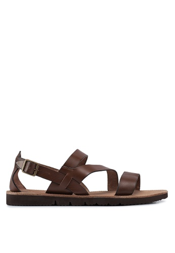 dde016cd1b7 Buy MANGO Man Leather Gladiator Sandals Online on ZALORA Singapore