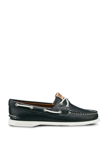 SPERRY navy A/O 2-Eye 85th Anniversary Boat Shoes A0FFDSHB42B4E3GS_1