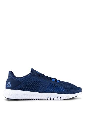 Reebok blue and navy Training Flexagon Shoes DB7F8SHC4AC8ABGS_1