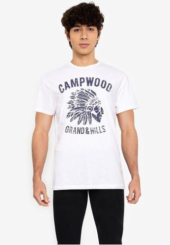 OVS white Printed T-Shirt 4611CAAA7E8452GS_1
