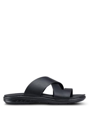 Bata black Crossover Strap Sandals A786BSH5B8C68BGS_1