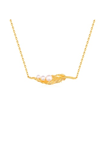 SUNSET 金色 Premium 925 Sliver Pearl Necklace 348A3ACDB190BEGS_1