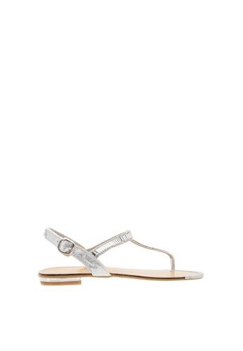e7a21a183 SEMBONIA silver Synthetic Leather Flat Sandal (Silver) 99965SHAD6B72FGS 1
