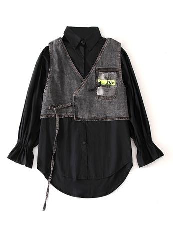 Twenty Eight Shoes Street Fashion Style Denim Vest Shirt Suit DD2006 1F7C4AA104CBCAGS_1