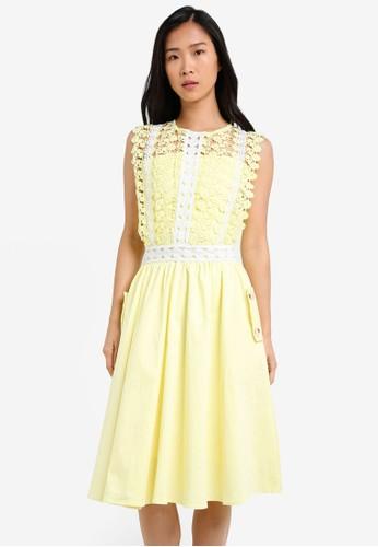 Megane yellow and multi Alair Dress ME617AA0S0UQMY_1