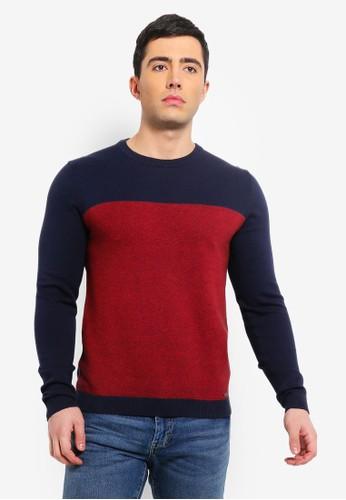 ESPRIT navy Long Sleeve Sweater 893C0AABD9A76FGS_1