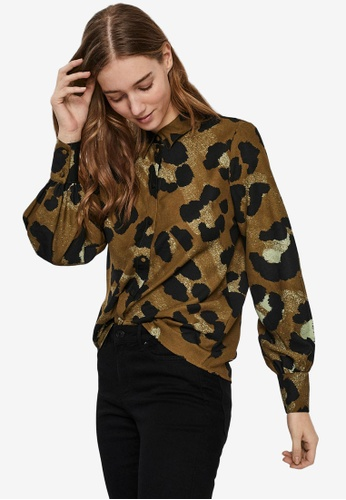 Vero Moda brown Greeta Shirt 7BBECAAB0903CCGS_1