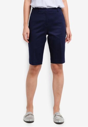 ESPRIT navy Woven Regular Shorts 56507AACAD0B14GS_1